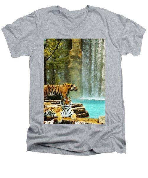 Two Tigers Men's V-Neck T-Shirt