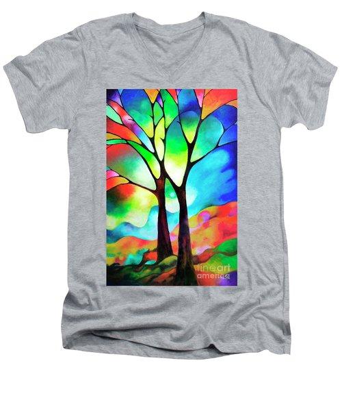 Two Trees Men's V-Neck T-Shirt