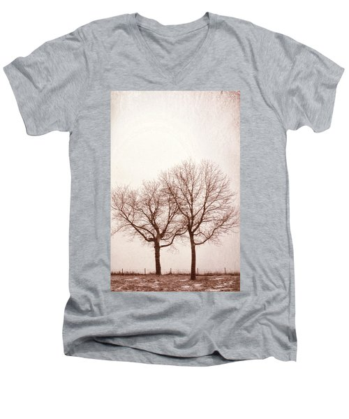Men's V-Neck T-Shirt featuring the photograph Two Trees#1 by Susan Crossman Buscho