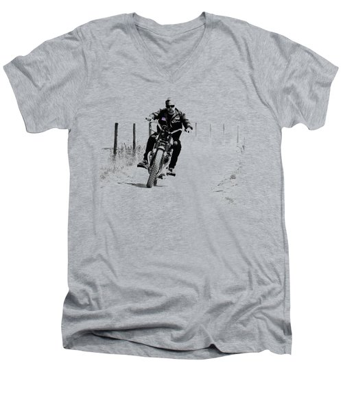 Two Wheels Move The Soul Men's V-Neck T-Shirt by Mark Rogan