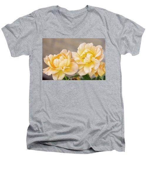 Two Yellow Sherberts Men's V-Neck T-Shirt by Joan Bertucci