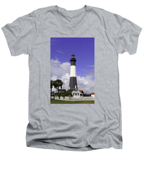 Tybee Island Lighthouse Men's V-Neck T-Shirt