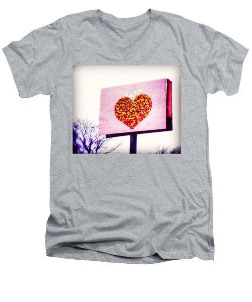 Tyson's Tacos Heart Men's V-Neck T-Shirt