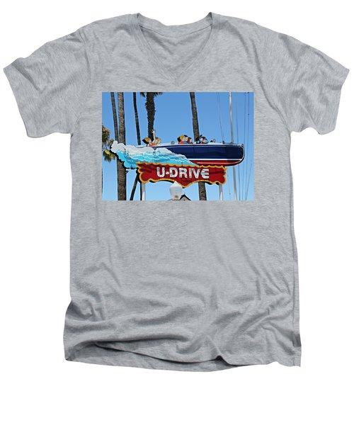 U-drive Boat Sign Men's V-Neck T-Shirt