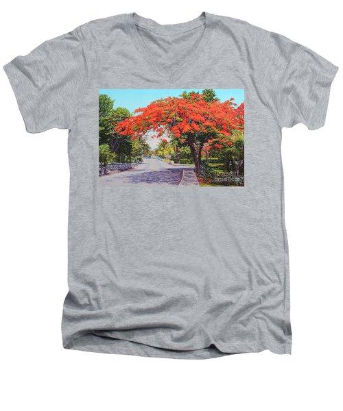 Ubs Poinciana Men's V-Neck T-Shirt