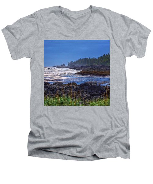 Ucluelet, British Columbia Men's V-Neck T-Shirt by Heather Vopni