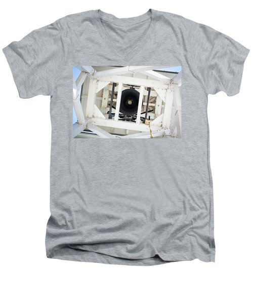 Men's V-Neck T-Shirt featuring the photograph Uga Chapel Bell by Parker Cunningham