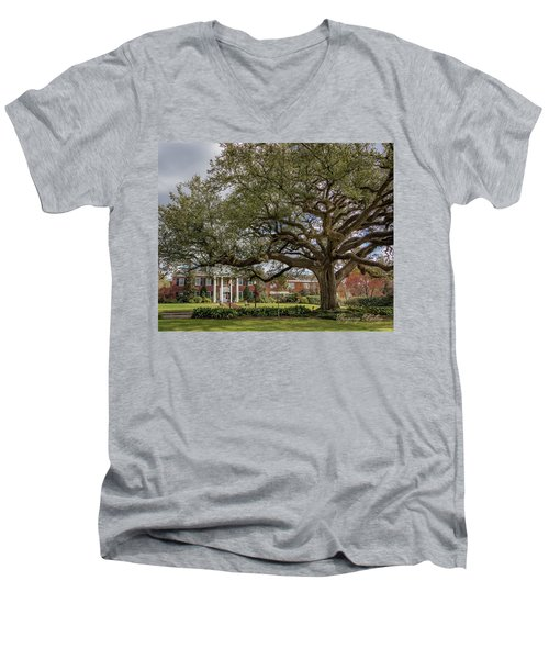 Men's V-Neck T-Shirt featuring the photograph Ul President Home 01 by Gregory Daley  PPSA