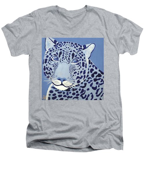 Ultramarine Jaguar Men's V-Neck T-Shirt