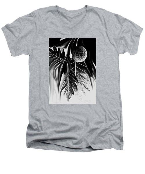 Ulu - Breadfruit Abstract Men's V-Neck T-Shirt