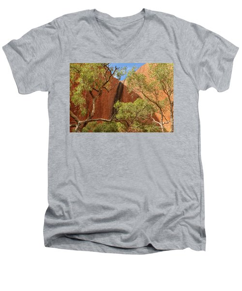 Men's V-Neck T-Shirt featuring the photograph Uluru 02 by Werner Padarin