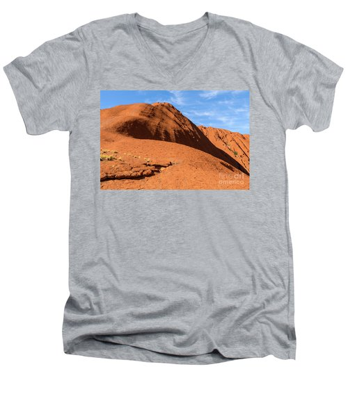 Men's V-Neck T-Shirt featuring the photograph Uluru 04 by Werner Padarin
