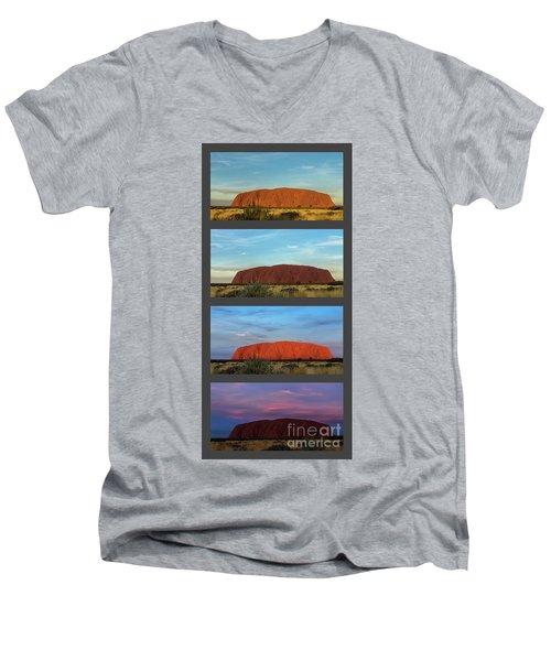 Uluru Sunset Men's V-Neck T-Shirt