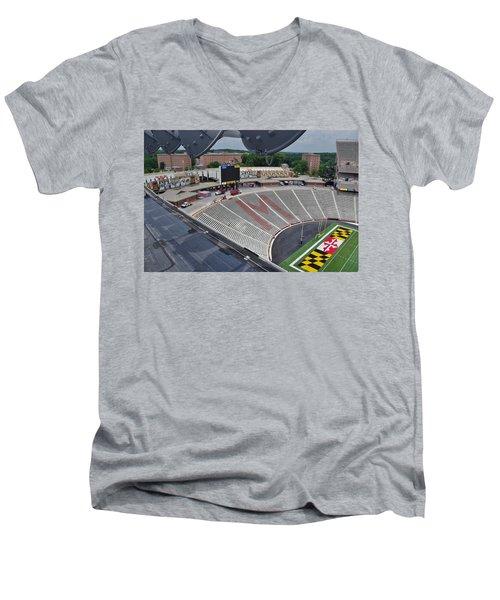 UM Men's V-Neck T-Shirt by Robert Geary