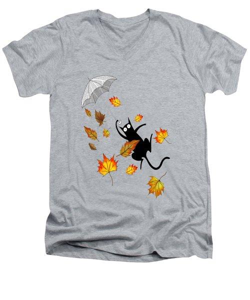 Umbrella Men's V-Neck T-Shirt
