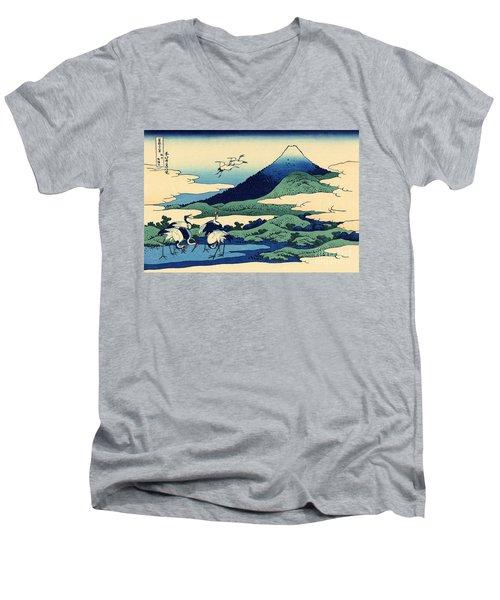 Umegawa In Sagami Province, One Of Thirty Six Views Of Mount Fuji Men's V-Neck T-Shirt by Hokusai