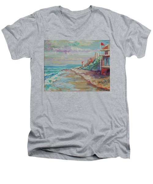 Umhlanga Light House And Beach Men's V-Neck T-Shirt