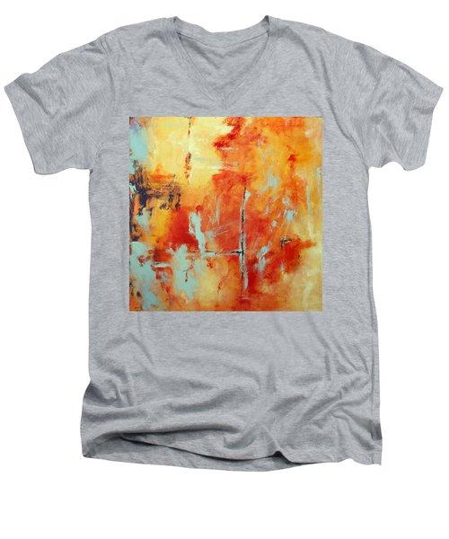 Uncharted Destination Men's V-Neck T-Shirt by M Diane Bonaparte
