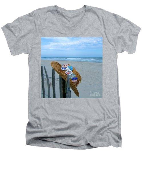 Uncle Carl's Beach Hat Men's V-Neck T-Shirt