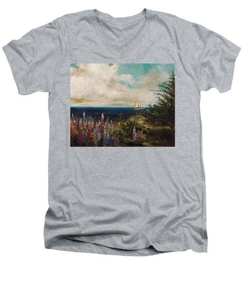 Under Full Sail Men's V-Neck T-Shirt by John Williams