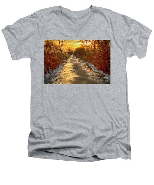 Under The Golden Sky Men's V-Neck T-Shirt