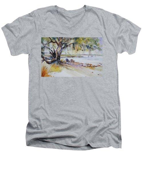 Under The Live Oak Men's V-Neck T-Shirt