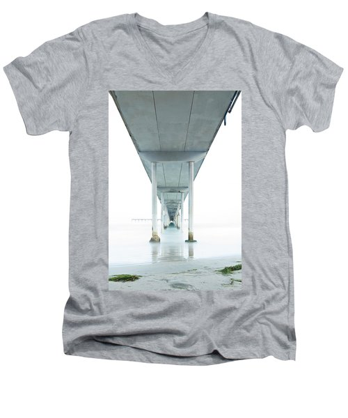 Under The Ocean Beach Pier Early Morning Men's V-Neck T-Shirt