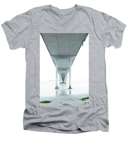 Under The Ocean Beach Pier Early Morning Men's V-Neck T-Shirt