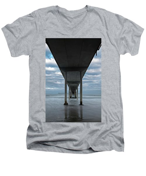 Under The Ocean Beach Pier San Diego Early Morning Men's V-Neck T-Shirt