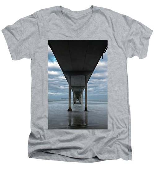 Under The Ocean Beach Pier San Diego Early Morning Men's V-Neck T-Shirt