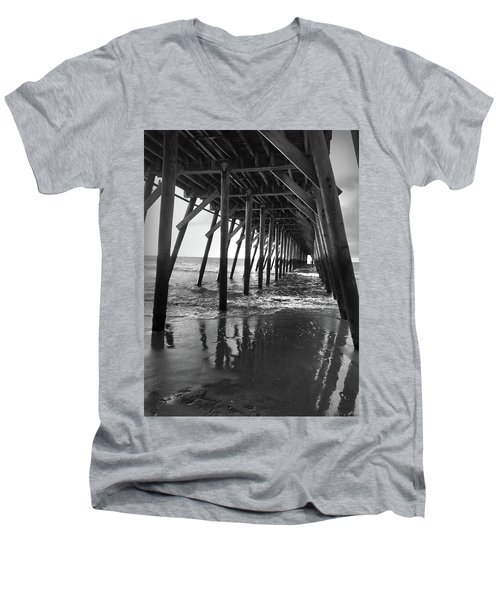 Under The Pier At Myrtle Beach Men's V-Neck T-Shirt