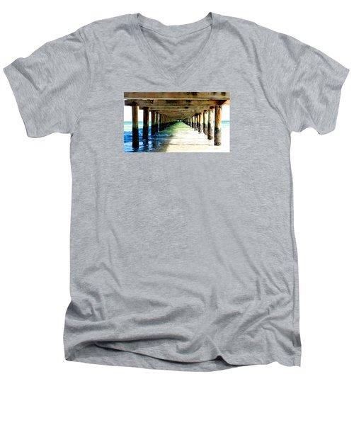 Anna Maria Island Pier Excellence In Photography Award 2016 Men's V-Neck T-Shirt