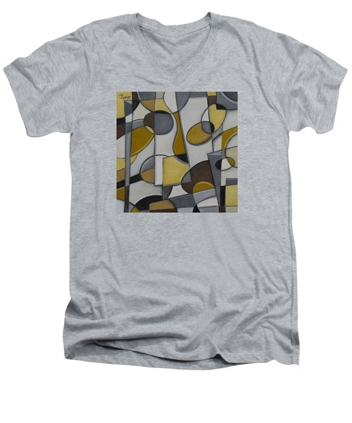 Under The Radar Men's V-Neck T-Shirt by Trish Toro