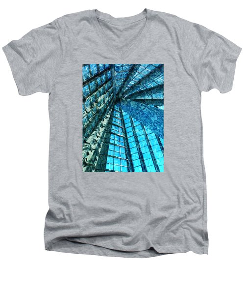 Under The Sea Dwelling Abstract Men's V-Neck T-Shirt