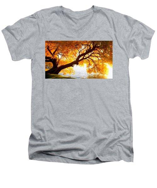 Under The Yellow Tree Men's V-Neck T-Shirt