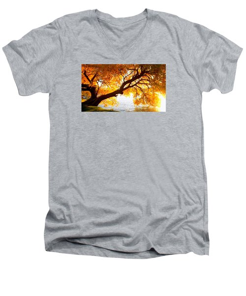 Under The Yellow Tree Men's V-Neck T-Shirt