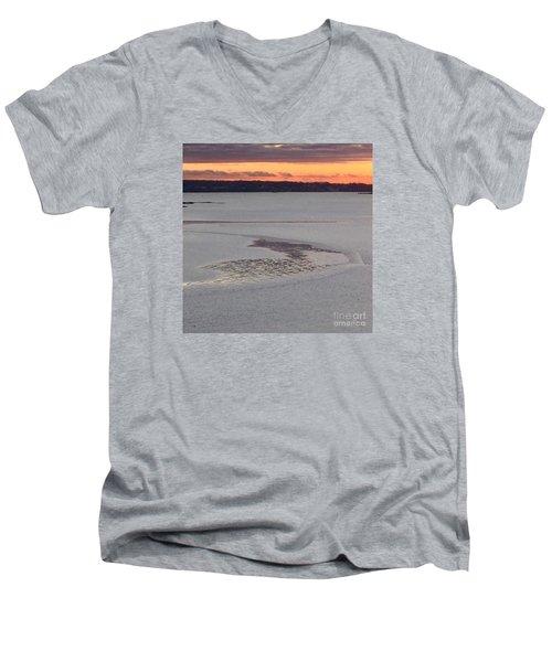 Undercurrents No. 2 Men's V-Neck T-Shirt by Patricia E Sundik