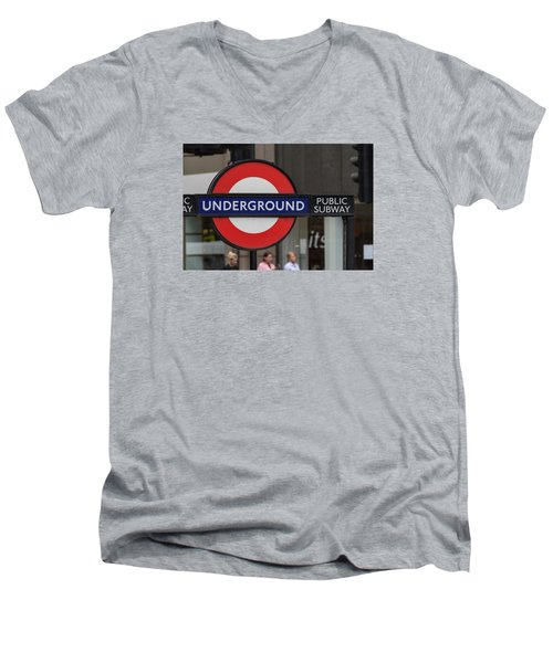 Underground Sign London Men's V-Neck T-Shirt