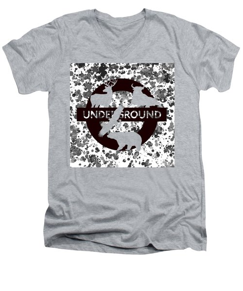 Underground.2 Men's V-Neck T-Shirt by Alberto RuiZ