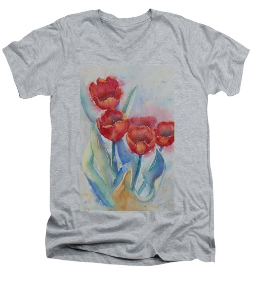 Undersea Tulips Men's V-Neck T-Shirt