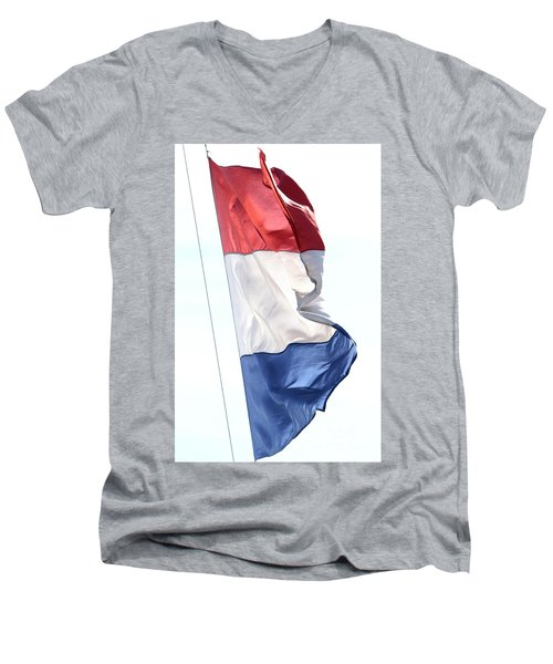 Men's V-Neck T-Shirt featuring the photograph Unfurl 03 by Stephen Mitchell