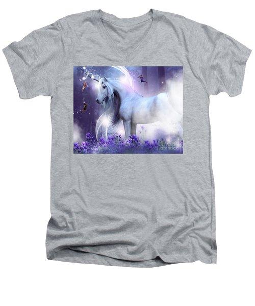 Unicorn Kisses Men's V-Neck T-Shirt