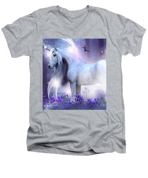 Unicorn Kisses Men's V-Neck T-Shirt