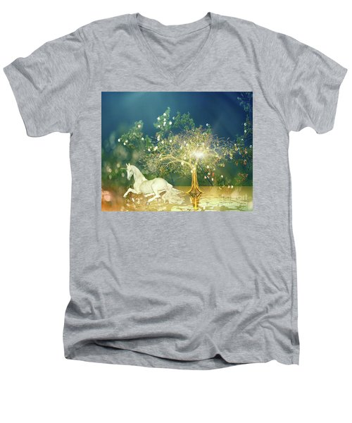 Unicorn Resting Series 2 Men's V-Neck T-Shirt
