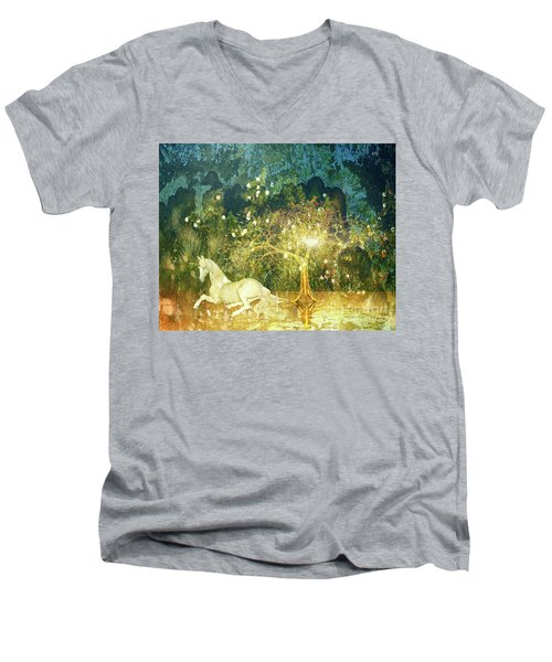 Unicorn Resting Series 3 Men's V-Neck T-Shirt