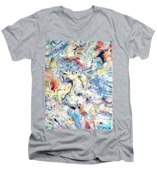 Unicorns And Rainbows  Men's V-Neck T-Shirt
