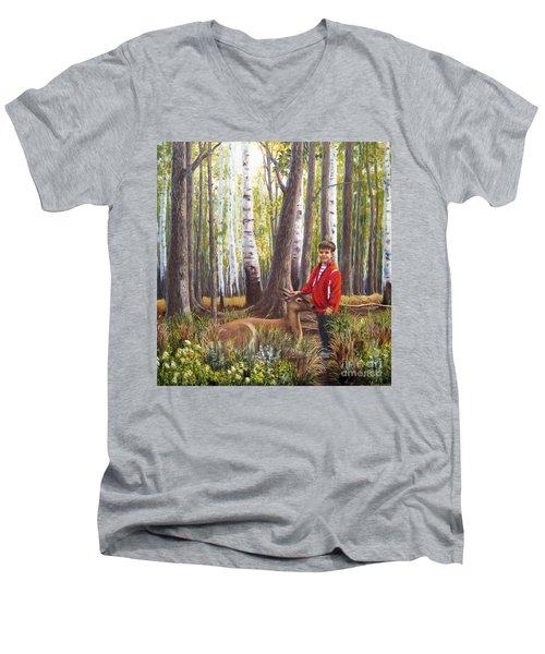 Uninhibited Men's V-Neck T-Shirt