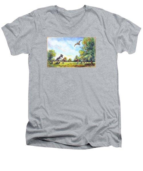 Uninvited Picnic Guests Men's V-Neck T-Shirt