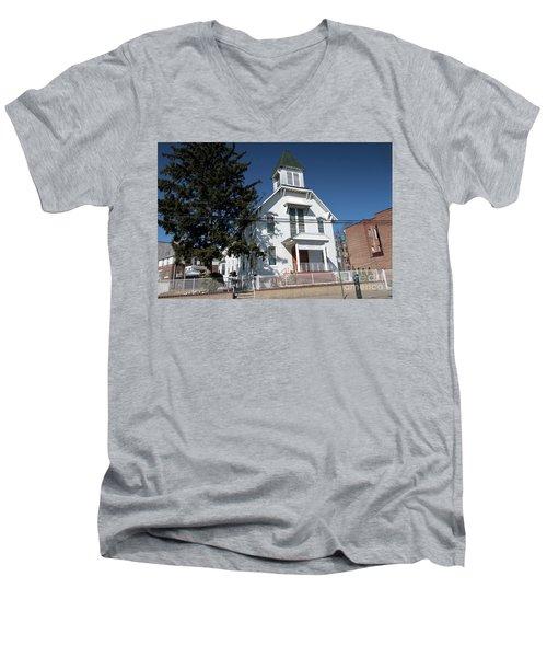 Union Evangelical Church Of Corona Men's V-Neck T-Shirt