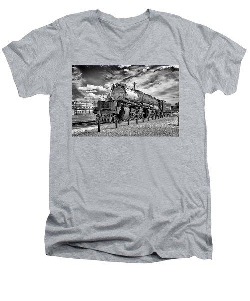 Men's V-Neck T-Shirt featuring the photograph Union Pacific 4-8-8-4 Big Boy by Paul W Faust - Impressions of Light